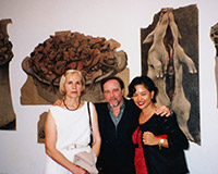 During his solo exhibition. Geneva.
