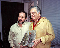 With his friend Gabriel García Márquez at the artist's studio, Havana.