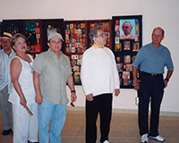 "With his friend Gabriel García Márquez and friends, at Fabelo's solo exhibition ""Un poco de mí"" (Part of me), National Fine Arts Museum, Havana."